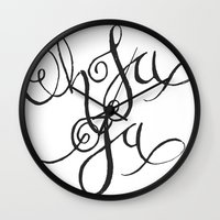 Oh La La Wall Clock