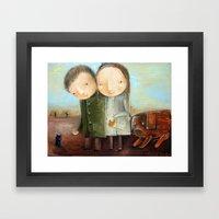 Superstitious Framed Art Print