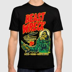 BEASTWRECK ATTACKS! Mens Fitted Tee Black SMALL