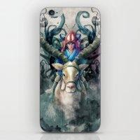 Ashitaka Demon Watercolor Digital Painting iPhone & iPod Skin