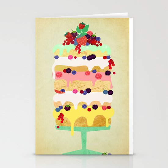 Fairy Cake Stationery Card