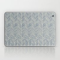 Freeform Arrows in navy Laptop & iPad Skin