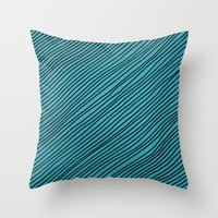 Stripes - turchese Throw Pillow