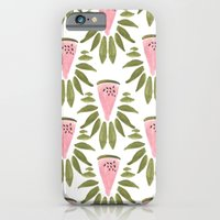 iPhone & iPod Case featuring Watermelon and Leaves by Bouffants and Broken Hearts