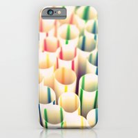 iPhone & iPod Case featuring Stripes & Straws by Ginger Mandy