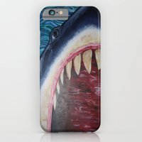 iPhone & iPod Case featuring SHARK! by Kitty Judge