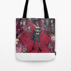 Bunnies of Valentine Day Town.  Tote Bag