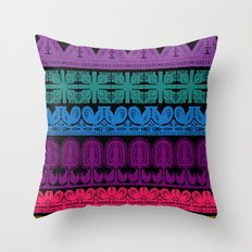 folk cutouts pattern Throw Pillow