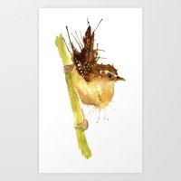 Mrs Wren Art Print