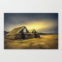 Old Huts Canvas Print