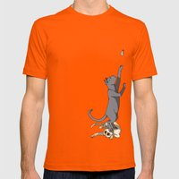 The Cats Mens Fitted Tee Orange SMALL