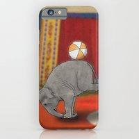 iPhone Cases featuring Circus Elephant by Barruf