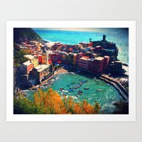 In The Middle Of The Blu… Art Print
