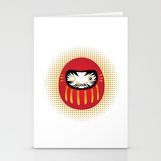 Daruma Stationery Card