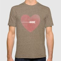 Half Of You Mens Fitted Tee Tri-Coffee SMALL