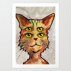 Four Eyed Cat Art Print