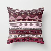 Yzor Pattern 004 Lilac Throw Pillow
