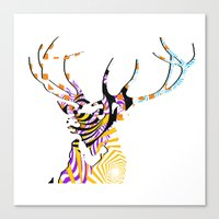 Mr Stag Canvas Print