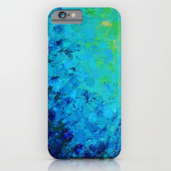 TRUE REFLECTION - Ocean Water Waves Ripple Light Impressionist Bright Colors Ombre Painting iPhone & iPod Case
