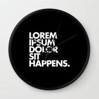LOREM IPSUM DOLOR SIT HA… Wall Clock