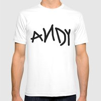 Andy Mens Fitted Tee White SMALL