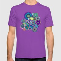 Welcome Birds To  My Gar… Mens Fitted Tee Ultraviolet SMALL