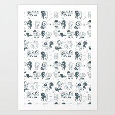 Pop Culture Clash Art Print