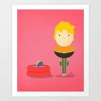 My Liquid Hero! Art Print