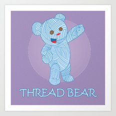 Thread-bear Art Print