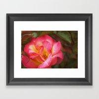 Flower Web Framed Art Print