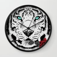 Wall Clock featuring Rose by Roland Banrevi