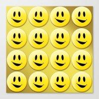 Smiley Smileys! Canvas Print