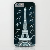 iPhone & iPod Case featuring La Tour Eiffel - The Eiffel tower inverse with text by Bruce Stanfield