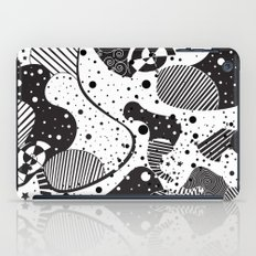 Black And White Geometric Abstract Art iPad Case