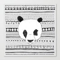 PANDA PATT! Canvas Print