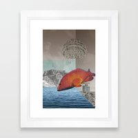 atmosphere 48 · the flying fish Framed Art Print