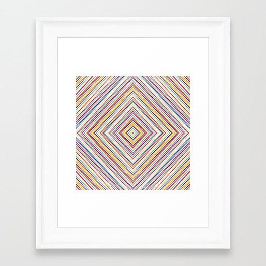 CRAYON STRIPES Framed Art Print