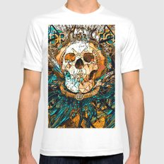 Old Skull Mens Fitted Tee SMALL White
