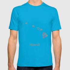 Hawaii map Mens Fitted Tee Teal SMALL