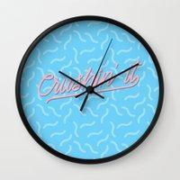 Crushin It Blue Squiggles /// www.pencilmeinstationery.com Wall Clock
