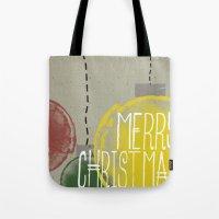 Merry Christmas Ornaments Tote Bag