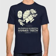 Hammer Throw Contest Mens Fitted Tee Navy SMALL