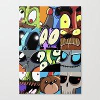 Brain Leak Canvas Print