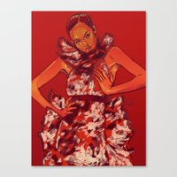 i bring you flowers Canvas Print