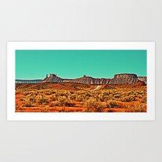 Long Road West Art Print