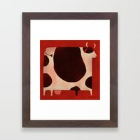 BOVINE Framed Art Print