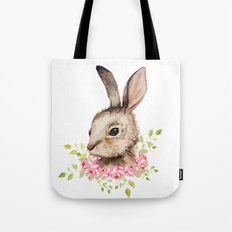 Easter Bunny With Flower… Tote Bag