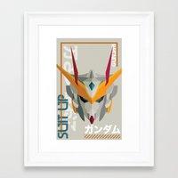 Suit Up // Gundam Framed Art Print