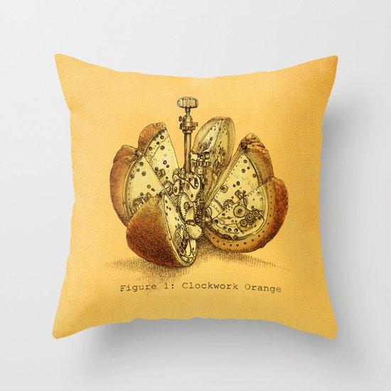 Steampunk Orange  (color option) Throw Pillow