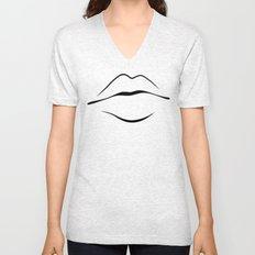 Lips Unisex V-Neck